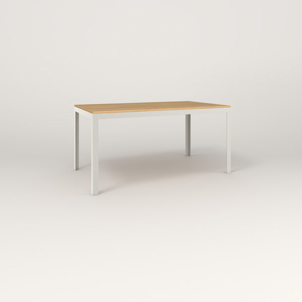 RAD Signature Table in solid white oak and white powder coat.