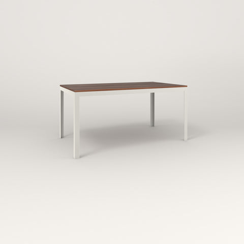 RAD Signature Table in slatted wood and white powder coat.