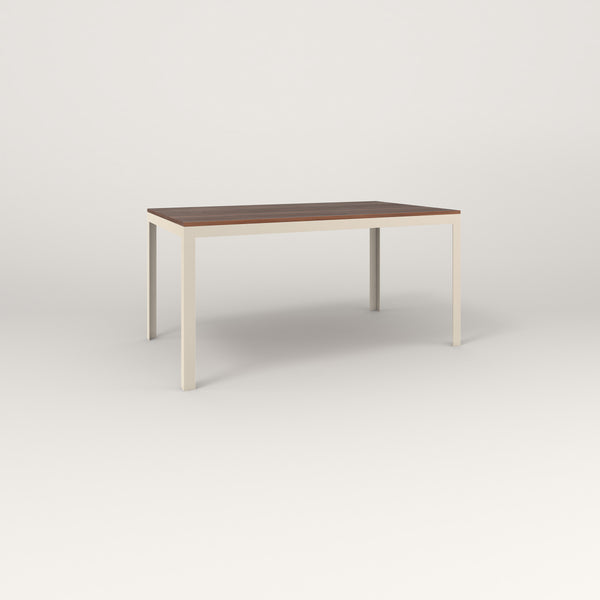RAD Signature Table in slatted wood and off-white powder coat.