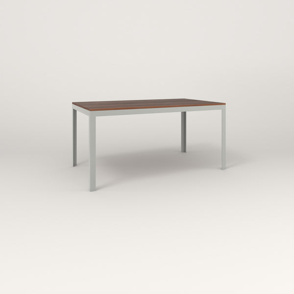 RAD Signature Table in slatted wood and grey powder coat.