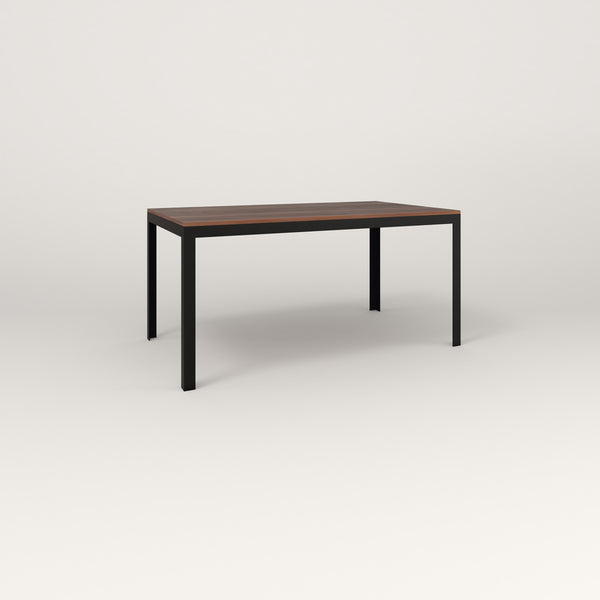 RAD Signature Table in slatted wood and black powder coat.