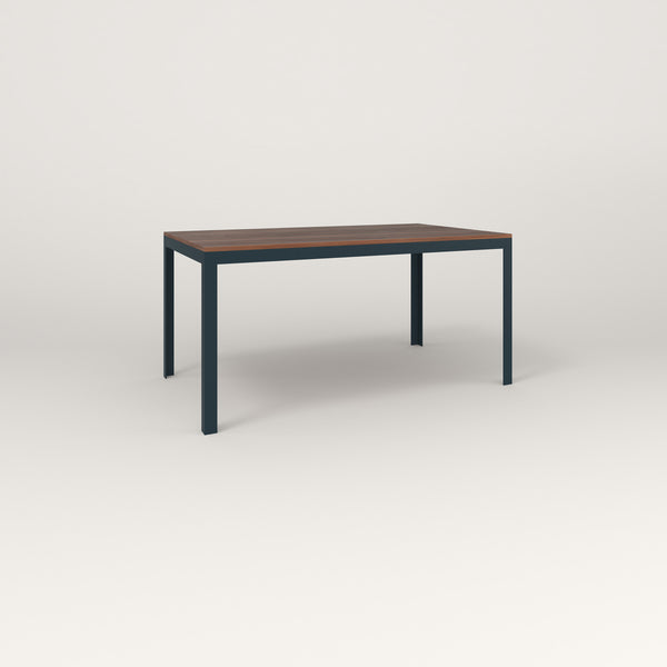 RAD Signature Table in slatted wood and navy powder coat.