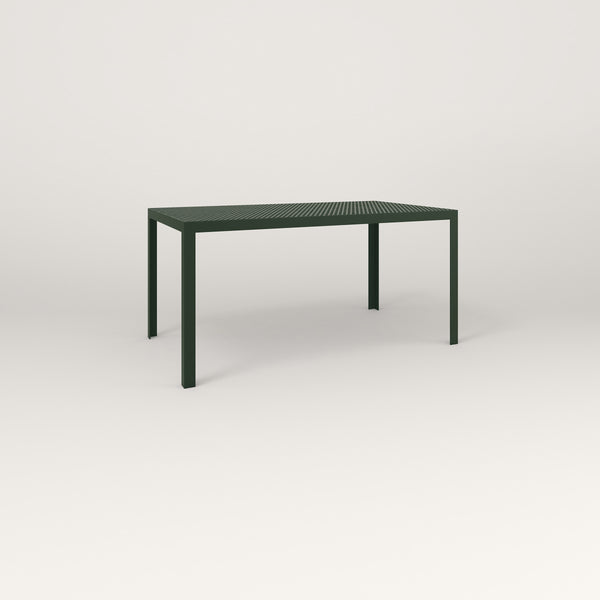 RAD Signature Table in perforated steel and fir green powder coat.