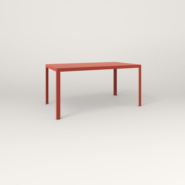 RAD Signature Table in perforated steel and red powder coat.