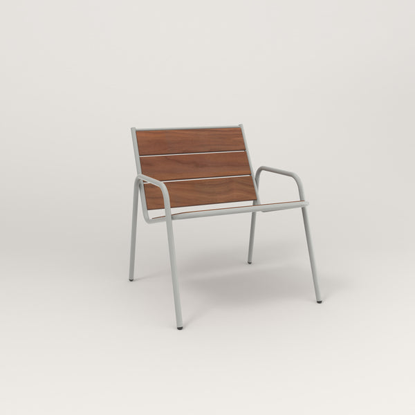 RAD Signature Lounge Chair in slatted wood and grey powder coat.
