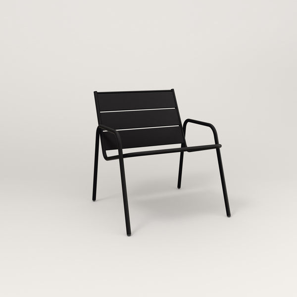 RAD Signature Lounge Chair Slatted Steel in black powder coat.