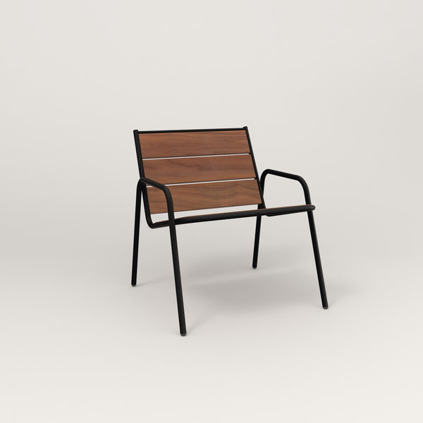 RAD Signature Lounge Chair in slatted wood and black powder coat.