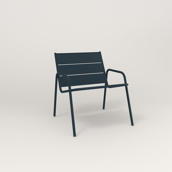 RAD Signature Lounge Chair Slatted Steel in navy powder coat.