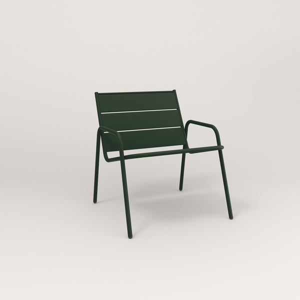 RAD Signature Lounge Chair Slatted Steel in fir green powder coat.