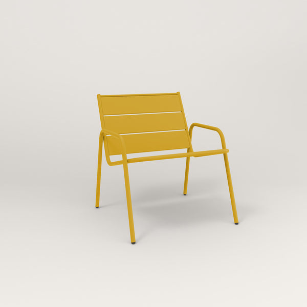 RAD Signature Lounge Chair Slatted Steel in yellow powder coat.