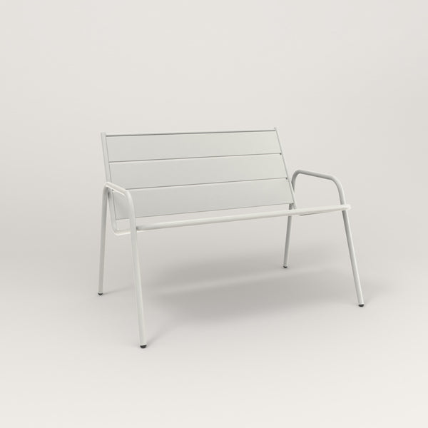 RAD Signature Lounge Chair Slatted Steel in white powder coat.