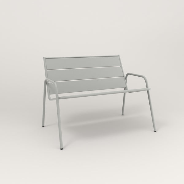 RAD Signature Lounge Chair Slatted Steel in grey powder coat.