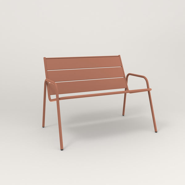 RAD Signature Lounge Chair Slatted Steel in coral powder coat.