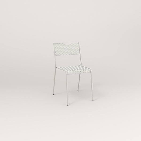 RAD Signature Dining Chair in perforated steel and white powder coat.