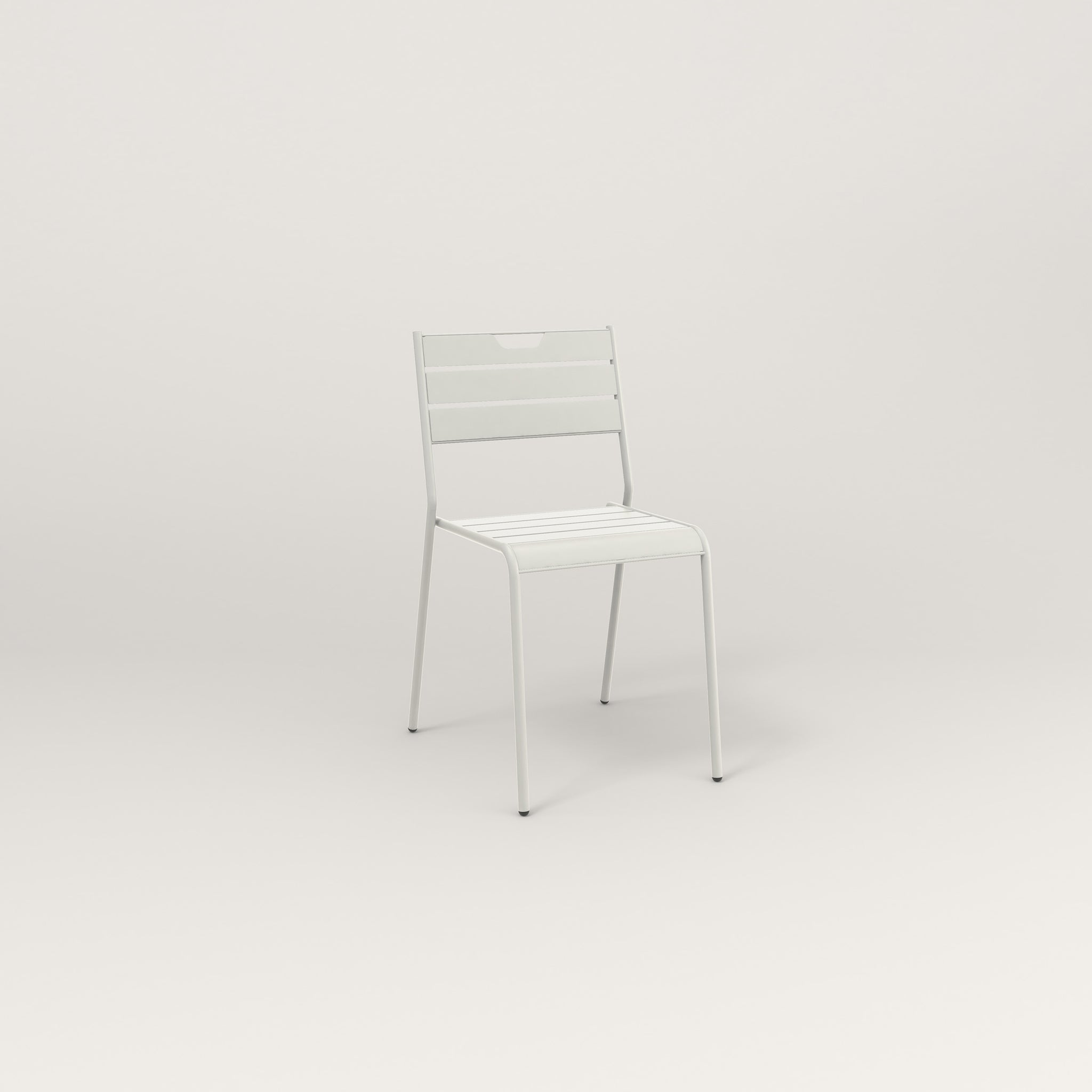 RAD Signature Dining Chair Slatted Steel in white powder coat.