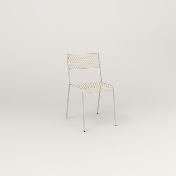 RAD Signature Dining Chair in perforated steel and off-white powder coat.