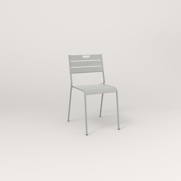 RAD Signature Dining Chair Slatted Steel in grey powder coat.