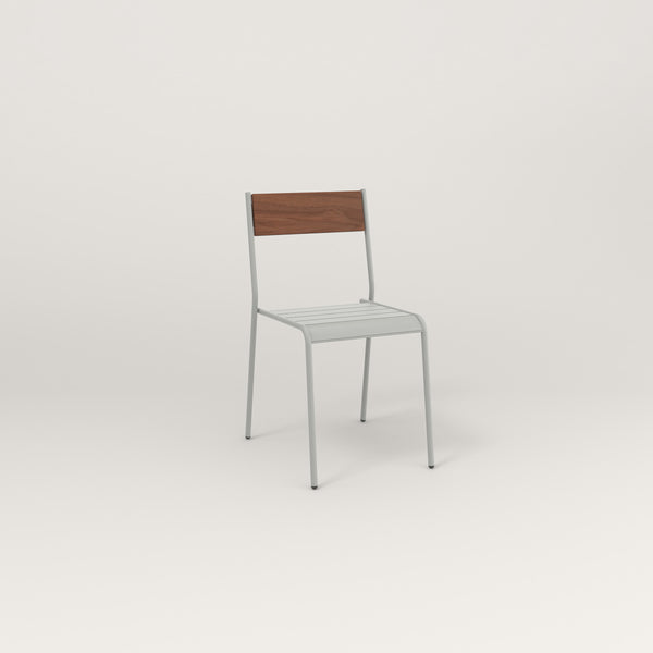 RAD Signature Dining Chair in slatted wood and grey powder coat.