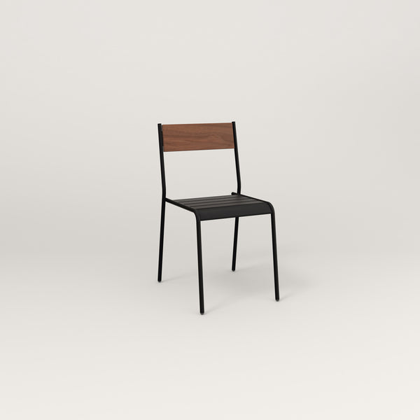 RAD Signature Dining Chair in slatted wood and black powder coat.