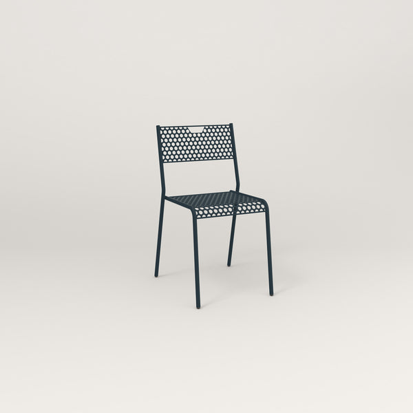RAD Signature Dining Chair in perforated steel and navy powder coat.