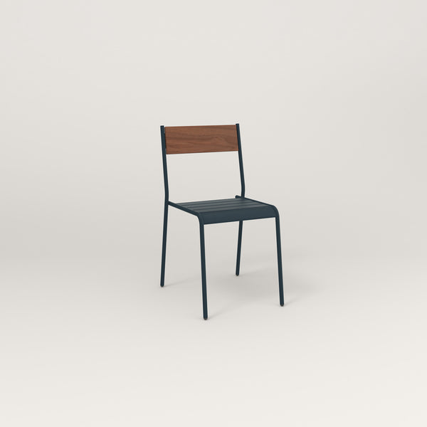 RAD Signature Dining Chair in slatted wood and navy powder coat.