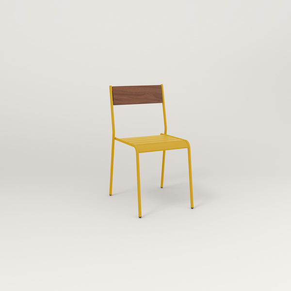 RAD Signature Dining Chair in slatted wood and yellow powder coat.