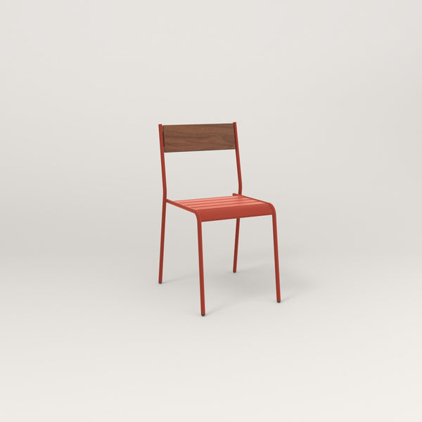 RAD Signature Dining Chair in slatted wood and red powder coat.