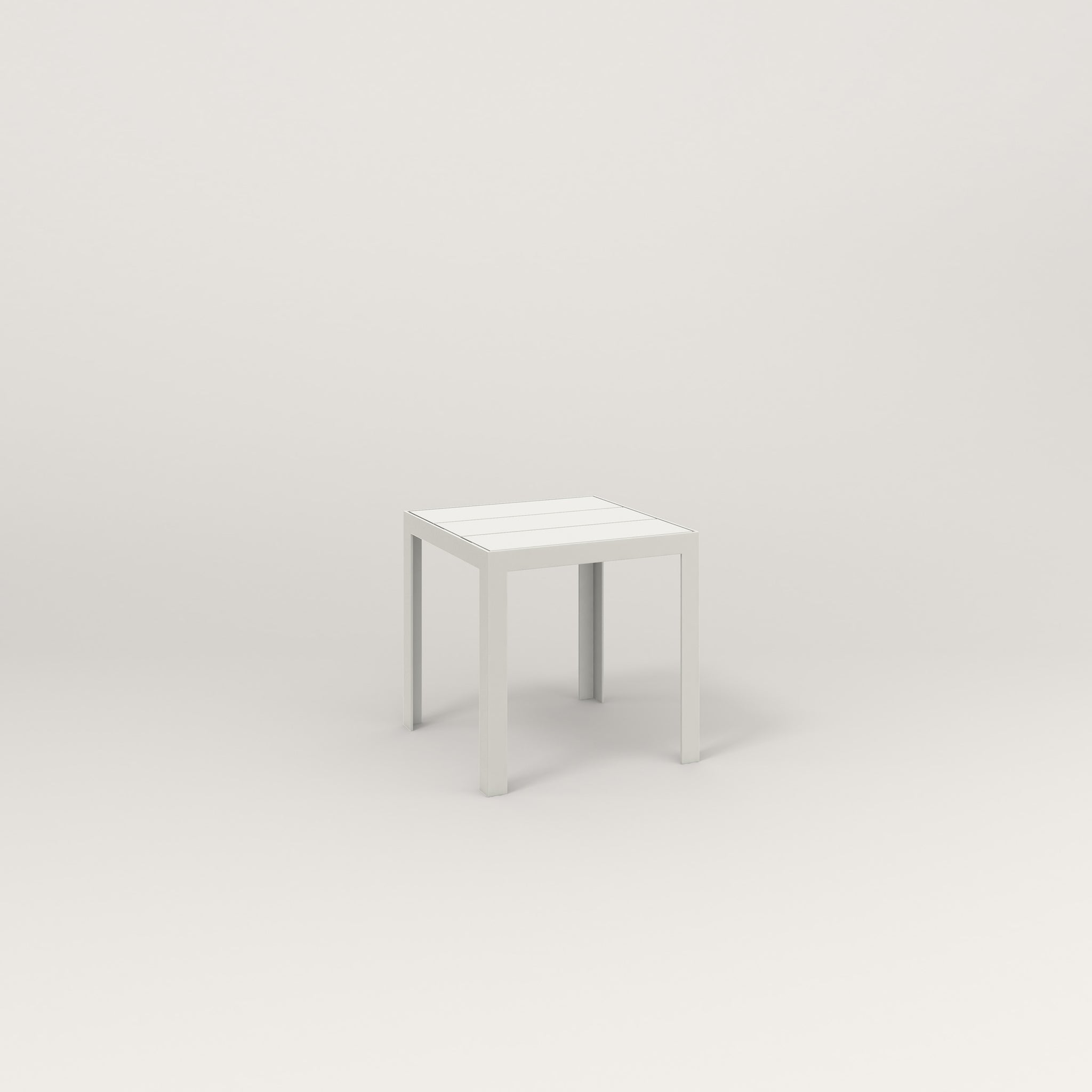 RAD Signature Simple Stool Slatted Steel in white powder coat.