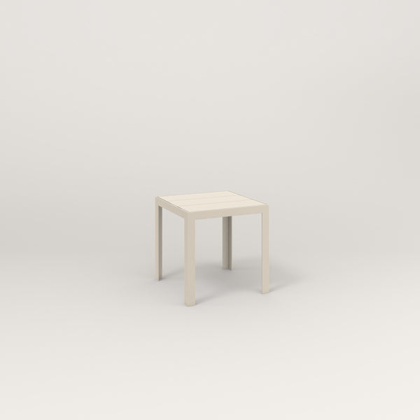 RAD Signature Simple Stool Slatted Steel in off-white powder coat.