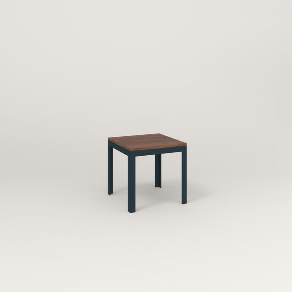 RAD Signature Simple Stool in slatted wood and navy powder coat.