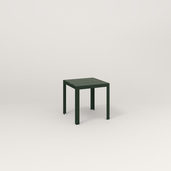 RAD Signature Simple Stool Slatted Steel in fir green powder coat.