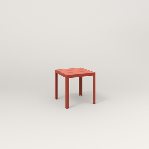 RAD Signature Simple Stool Slatted Steel in red powder coat.
