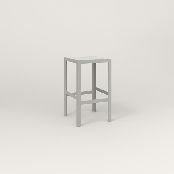 RAD Signature Simple Stool Slatted Steel in grey powder coat.