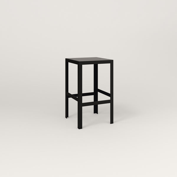 RAD Signature Simple Stool Slatted Steel in black powder coat.