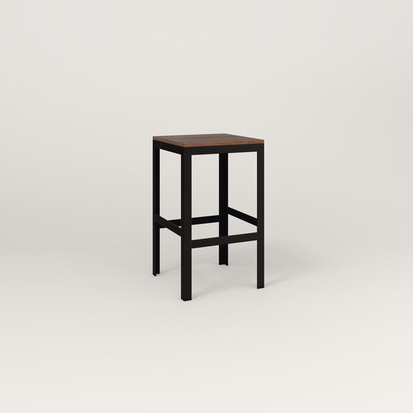 RAD Signature Simple Stool in slatted wood and black powder coat.