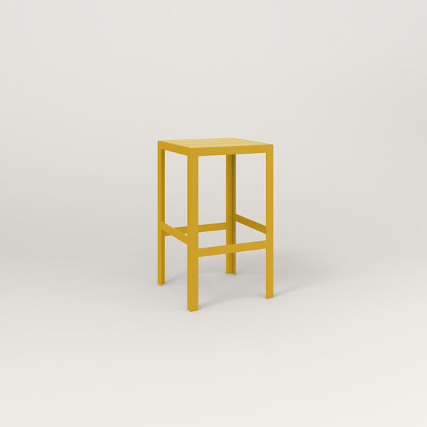 RAD Signature Simple Stool Slatted Steel in yellow powder coat.