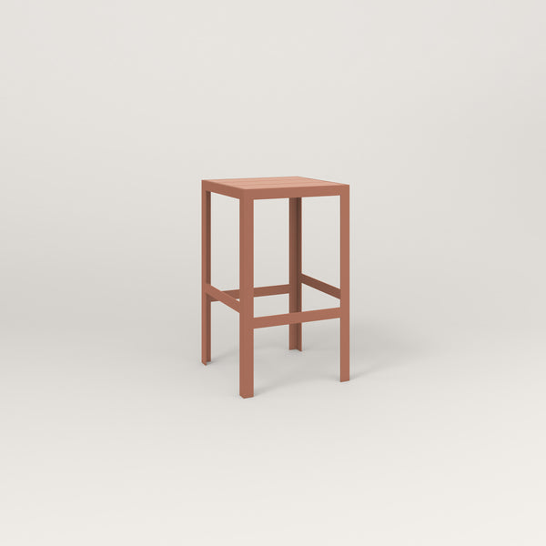 RAD Signature Simple Stool Slatted Steel in coral powder coat.