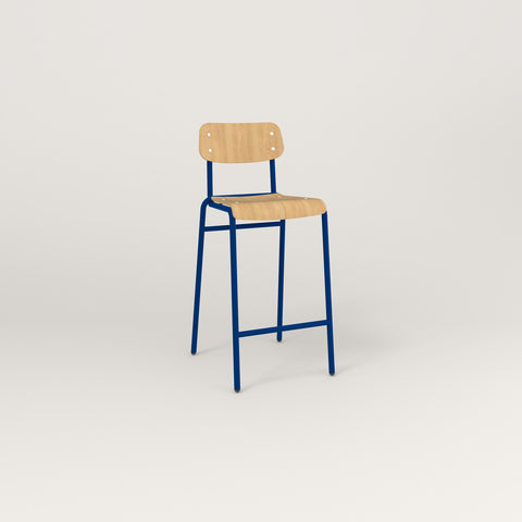 RAD School Bar Stool in bent plywood and new blue powder coat.