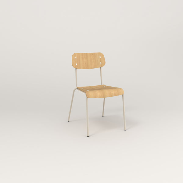 RAD School Chair in bent plywood and off-white powder coat.