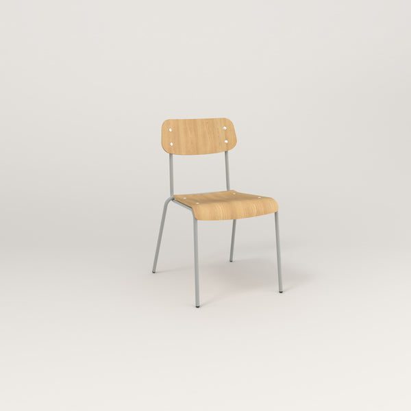 RAD School Chair in bent plywood and grey powder coat.