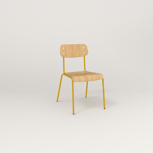 RAD School Chair in bent plywood and yellow powder coat.