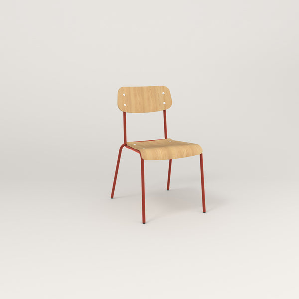 RAD School Chair in bent plywood and red powder coat.