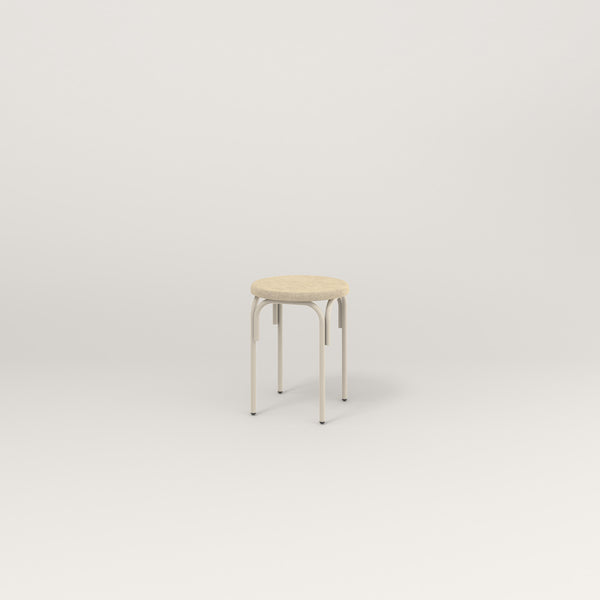 RAD School Simple Stool, Upholstered in off-white powder coat.