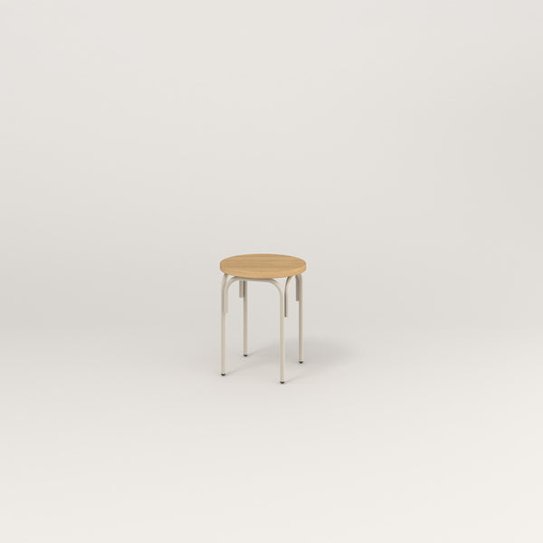 RAD School Simple Stool in white oak europly and off-white powder coat.
