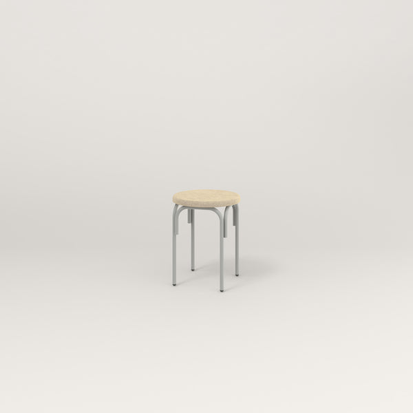 RAD School Simple Stool, Upholstered in grey powder coat.