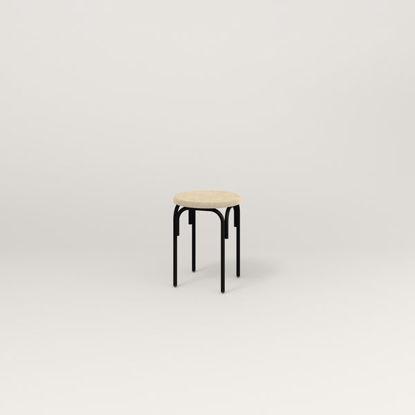 RAD School Simple Stool, Upholstered in black powder coat.