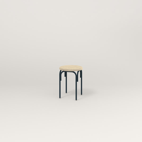 RAD School Simple Stool, Upholstered in navy powder coat.
