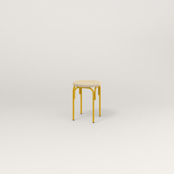 RAD School Simple Stool, Upholstered in yellow powder coat.