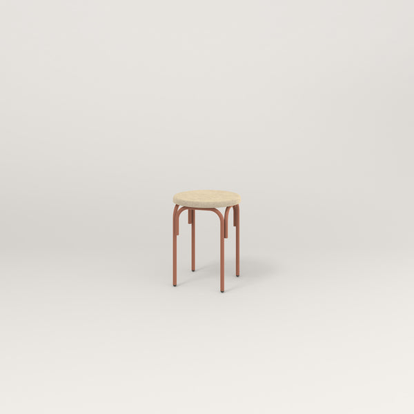 RAD School Simple Stool, Upholstered in coral powder coat.