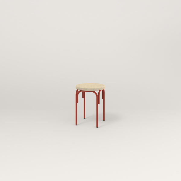 RAD School Simple Stool, Upholstered in red powder coat.